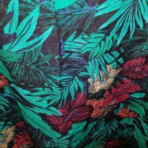 LOFT Dresses - Loft Tropical Floral Print Linen Dress NWT
